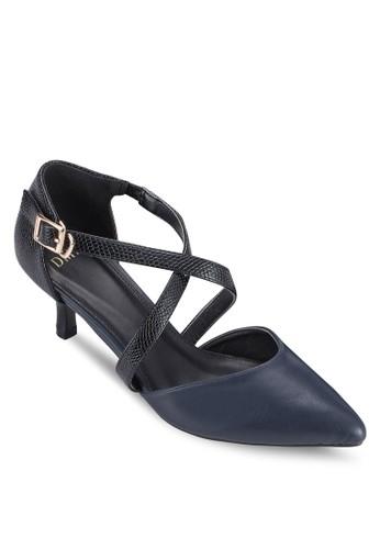 交叉踝帶尖esprit hong kong頭高跟鞋, 女鞋, 鞋