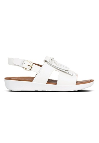 459b78a1565 FitFlop white Fitflop H-Bar Leather Back-Strap Fringe Sandals (Urban White)