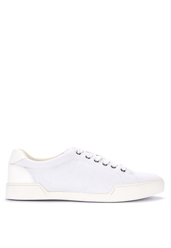 BENCH white Plain Lace Up Sneakers FA1D7SH408FB5EGS_1