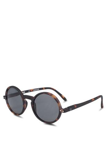 a1942d896dc Izipizi brown SUN LetmeSee  G Tortoise Soft Grey Lenses +0.00 Sunglasses  2EA95GLAC4054DGS 1