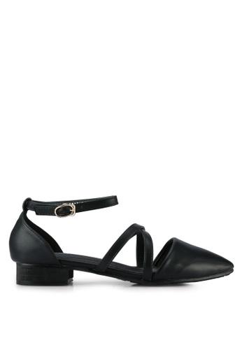 Twenty Eight Shoes black Cross Strap Ballet Flats TW281SH0RLUFMY_1