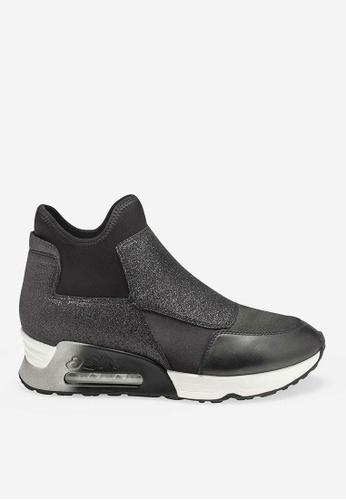 ASH Lazer Glit - Black Glitter Rendition High-Top Sneakers 94DE2SH311C6DCGS_1