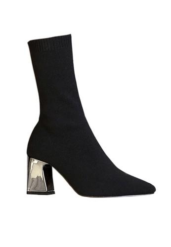 Twenty Eight Shoes 黑色 21cm Socking Mid Boots VB806 2FB20SHADC0239GS_1