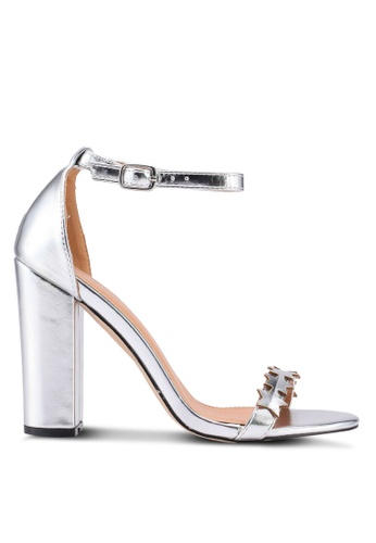 Public Desire silver Stardust Toe Strap Star Detail Heels BF100SH86BB12AGS_1