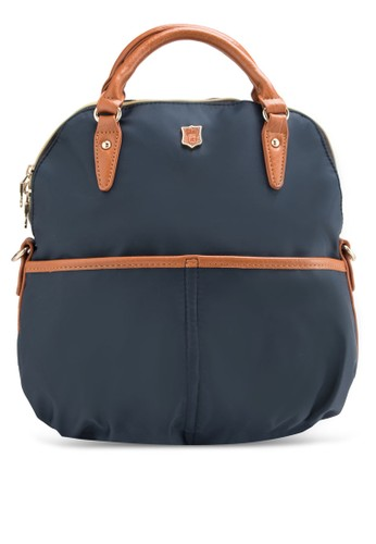 PU 滾邊三用尼龍手提包, 包, 手提zalora 衣服評價包