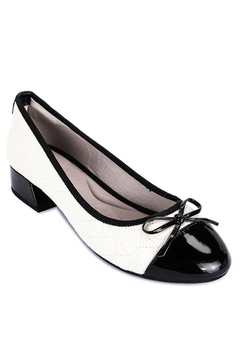 Butterfly Twists black and white Cheval 2 Closed Toe Heels 16323SH701AF00GS_1
