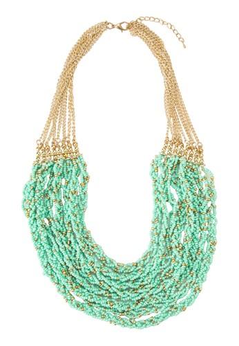 多層次編織串珠項鍊,esprit地址 飾品配件, 項鍊