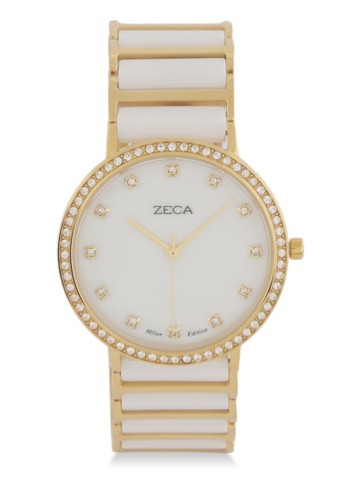 ZECA gold Zeca Watches Ladies Fashion Stainless Steel Analog - 1011L4 White Gold 273A5AC1886817GS_1