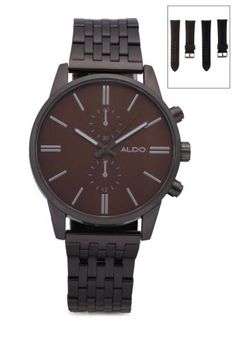 ALDO brown Unabard Watch Set D76D3ACA0AAABDGS_1