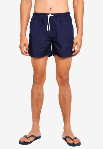 OVS blue and navy Piping Detail Shorts 904C5AABB2574EGS_1