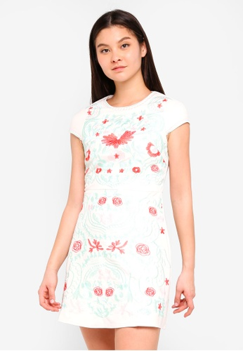 Foxiedox white Sierra Embroidery Dress FED03AA348CC02GS_1