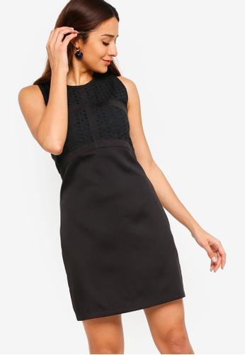 ZALORA black Panel Shift Dress 1329EAA81A280EGS_1