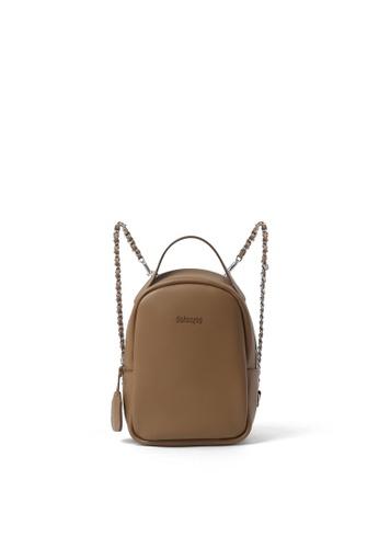 RABEANCO beige RABEANCO JEREMY Backpack - Almond 6BA87ACA409AD3GS_1