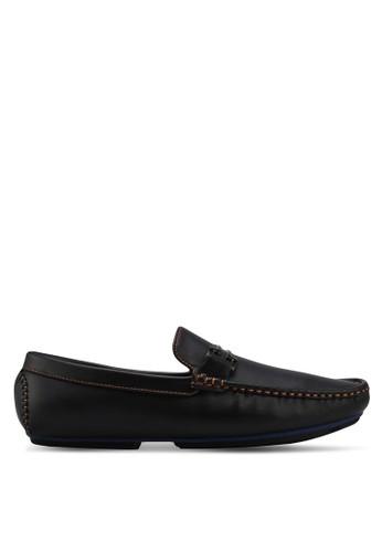 UniqTee black Sleek Loafers With Buckle & Stitch E07A2SH46C9C56GS_1