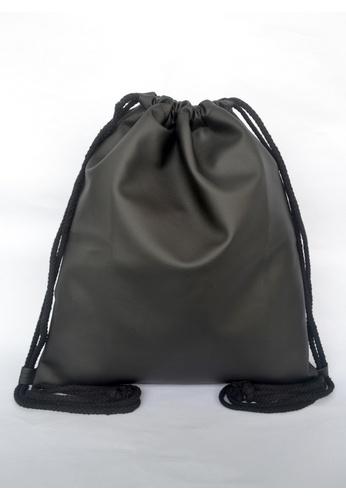 f0edc8288642 Buy The Twinees Black Pleather Drawstring Bag Online on ZALORA Singapore