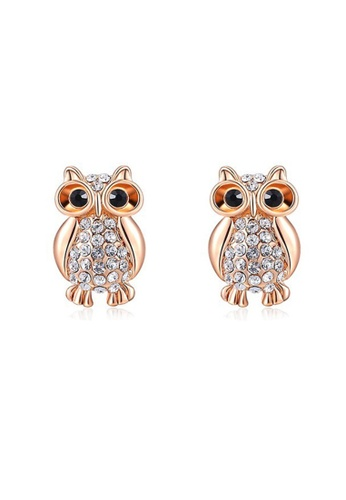 Kings Collection gold Crystal Owl Earrings A8192ACE5197DEGS_1
