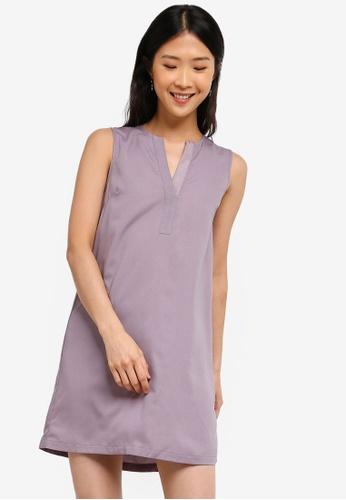 ZALORA BASICS grey Basic A-Line Dress 43789AA7941A62GS_1