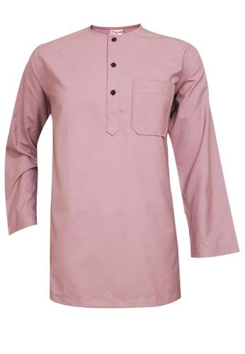 SULTAN pink SULTAN KURTA LELAKI / MEN'S - PRESIDENT - ROUND NECK FULL SLEEVES E8726AAF8AD205GS_1