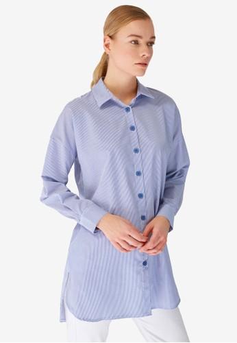 Trendyol blue Tunic Shirt 261E2AA3174E11GS_1