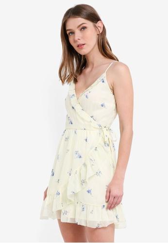 Abercrombie & Fitch yellow Bare Chiffon Ruffle Wrap Dress 15F88AA17AE95CGS_1