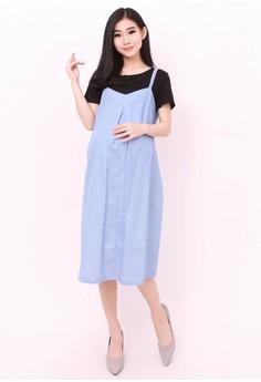 c0dbfaa738 Eve Maternity blue Tanzel Denim Nursing Dress 34247AADF246ACGS 1