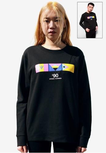 9 by 91,2 NINE esprit outlet 桃園旗幟印花長袖衫, 服飾, 運動衫