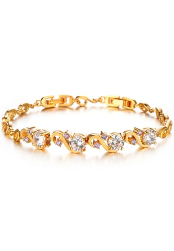 YOUNIQ gold YOUNIQ Premium Flow GemStone 18K Plated Bracelet (Gold) YO999AC93TESMY_1
