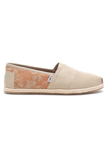 TOMS brown TOMS - Ox Tan Can Hibiscus Rope Alpargata Espadrille MN TO818SH53OCKMY_1