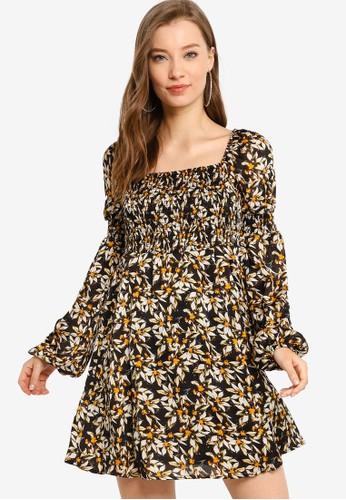 GUESS black Long Sleeves Laurel Dress 0D2CEAA200BB5AGS_1