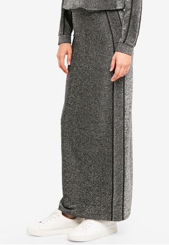 Lubna silver Glitter Side Strip Pencil Skirt 5CC7FAA39DAA66GS_1