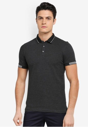 G2000 black Tipping Collar Polo 5F29CAAF9AB664GS_1