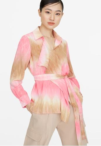 Pomelo pink Tie Dye Wrap Shirt - Pink 4FEDEAA6B30DABGS_1