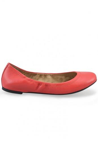 Shu Talk 橘色 經典珊瑚色羊軟皮圓頭芭蕾平底鞋 SH544SH099V6TW_1