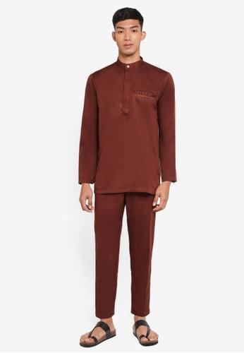 Klozet Kuala Lumpur red Baju Melayu Regular Ghazal BE961AAE97EF8EGS_1