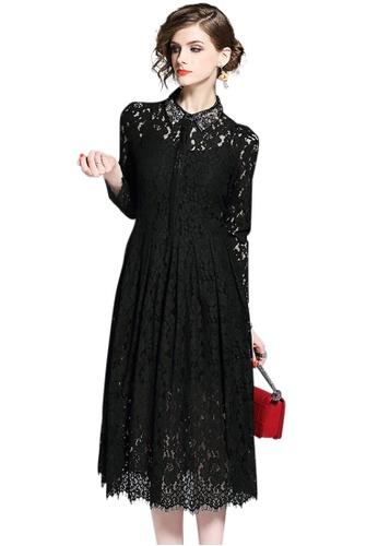 Sunnydaysweety black new elegant Lace One-piece Dress CA032140BK 3EAA2AAC25B4D3GS_1