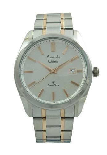Alexandre Christie silver Alexandre Christie Jam Tangan Pria - Silver Rosegold White - Stainless Steel - 8514 MDBTRSL AL709AC07IYIID_1
