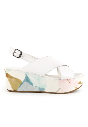 Joy & Peace white Cross Strap Sandals JO458SH70YHDHK_1