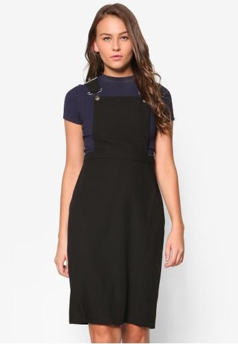 Dorothy Perkins black Petite Black Utility Pinny Dress DO816AA14RUFMY_1