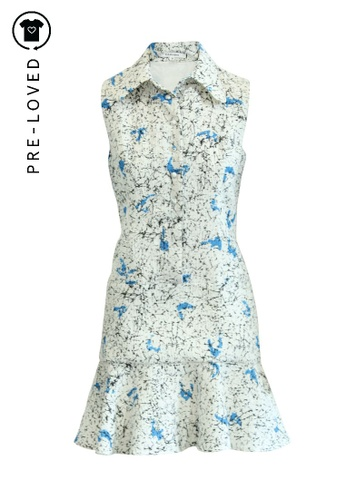 Carven multi Pre-Loved carven White and Blue Printed Buttoned Dress A54A1AA8E2DE2DGS_1