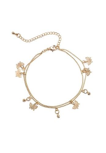 Glamorbit gold Gold Butterfly Bracelet 2DDCBACFCA74DCGS_1