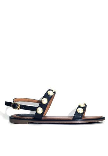 Twenty Eight Shoes black Beaded Flat Sandals VS2281 25303SH5EBC94CGS_1