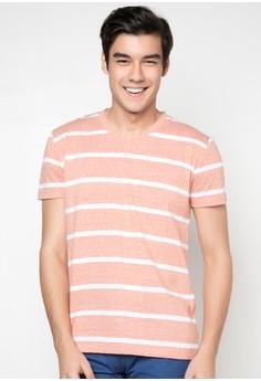 Anton Stripped V-Neck T-shirt