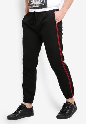 Brave Soul black Fine Cotton Twill Pants 574C2AA35C6F28GS_1