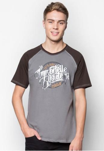 文esprit tw字設計拉克蘭短袖TEE, 服飾, T恤