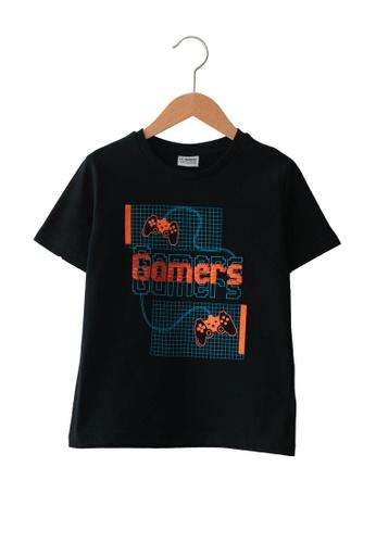 LC Waikiki black Boy's Cotton T-Shirt 54230KAD694327GS_1