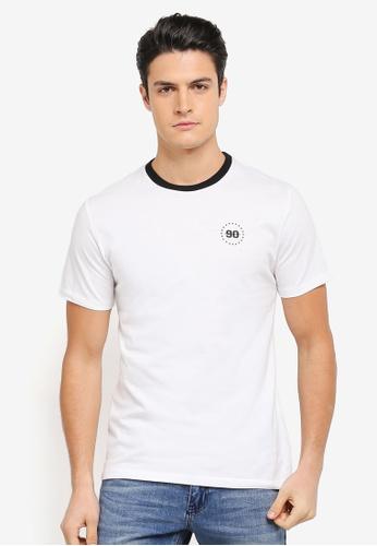 JAXON white Logo Tee with Rib Collar 7268DAAF95BAB4GS_1