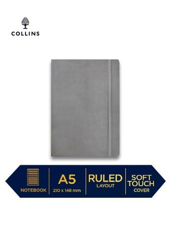 Collins grey Collins Legacy  ─  NotebookA5 Ruled Grey 8EF99HLBC86CF1GS_1