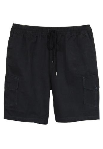 Extrema Extra Men's Big Size Cargo Short Pant 0XL-5XL Plus Size EXS5003 (Charcoal) 0E127AADA1D9BEGS_1