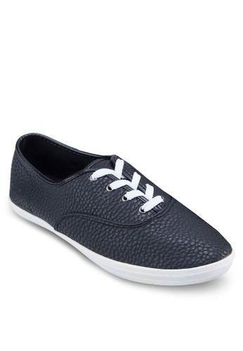 壓紋仿皮休閒鞋, 鞋, 休閒zalora 內衣鞋