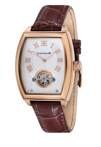 Thomas Earnshaw brown Thomas Earnshaw ROBINSON ES-8044-04 Men's Brown Genuine Leather Strap Watch 26F2DAC6597BCBGS_1